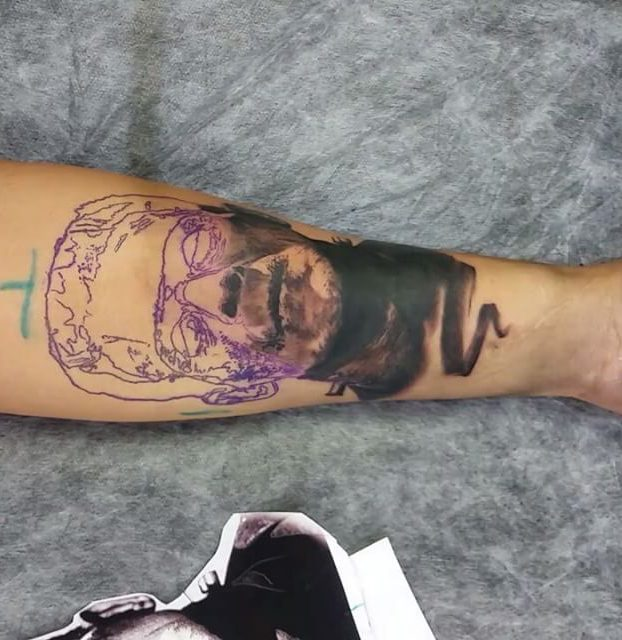 decaque de frankenstein tattoo
