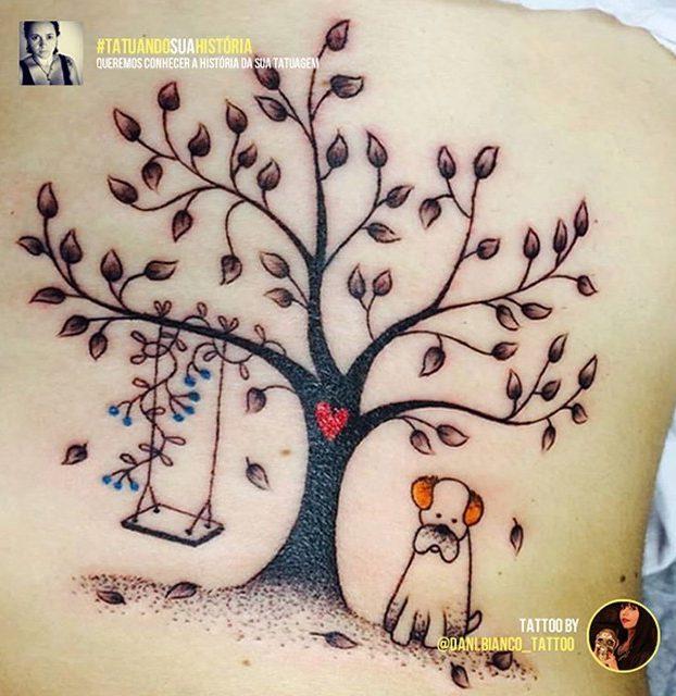desenho de árvore na barriga