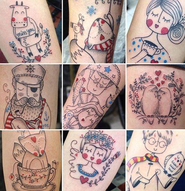 desenhos delicados para mulheres tatuarem