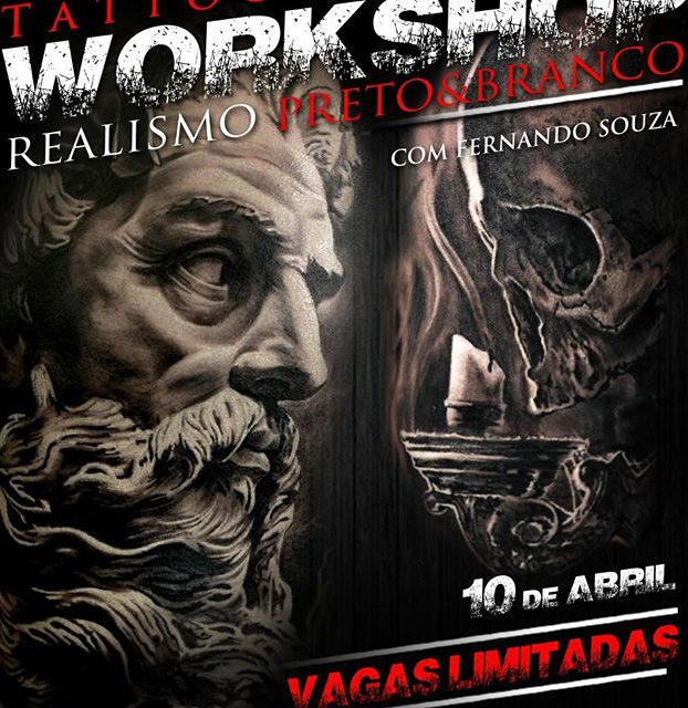 workshop de realismo preto e branco