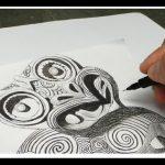 Desenho de tatuagem tribal -Tiki