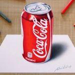 3D Drawing: Coca-Cola can