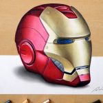 3D Drawing: Iron Man's helmet