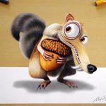 3D Drawing: Scrat | Ice Age