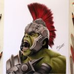 Desenhando o Incrível Hulk – Thor Ragnarok