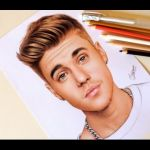 Desenhando o Justin Bieber   Drawing Justin Bieber
