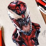 Drawing Carnage | Desenhando Carnificina (Marvel)