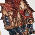 Drawing Medieval-Fantasy House