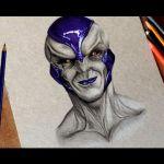 Drawing Realistic Frieza   Desenhando o Frieza Realista ( Dragon Ball )