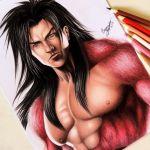 Drawing Realistic Goku SSJ4 | Desenhando Goku Realista ( Releitura de fanart by  leemarej )
