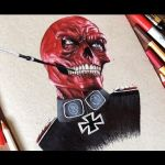 Drawing Red Skull | Desenhando o Caveira Vermelha ( Marvel )