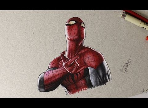 Drawing Spider Man Comic Style Desenhando O Homem Aranha