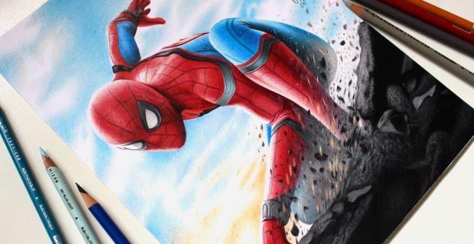 Drawing Spider Man Homecoming Desenhando O Homem Aranha