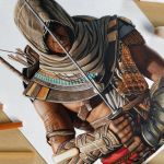 Speed Drawing: Bayek of Siwa (Assassin's Creed Origins)