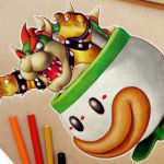 Speed Drawing: Bowser (Super Mario)