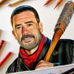 Speed Drawing: Negan (The Walking Dead)