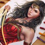 Speed Drawing: Wonder Woman | Gal Gadot
