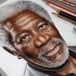 Desenhando o Morgan Freeman (Speed Drawing)