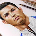 Desenhando Cristiano Ronaldo (CR7)