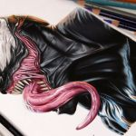 Desenhando o Venom (Speed Drawing)