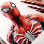 Desenhando o Spider Man (PS4) – Speed Drawing