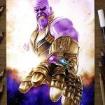 Desenhando o Thanos (Speed Drawing)