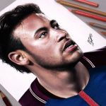 Desenhando o Neymar Jr (Speed Drawing)