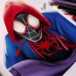 Desenhando o Homem Aranha: Into the Spider-Verse ( Speed Drawing)