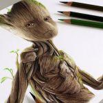 Desenhando o Groot – (Speed Drawing)